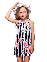 Недорогие -Дети Девочки Цветок солнца Цветочный принт Без рукавов Платье