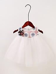 abordables -bébé Fille Géométrique Sans Manches Robe