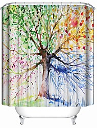 cheap -Shower Curtains Contemporary Polyester Novelty Waterproof