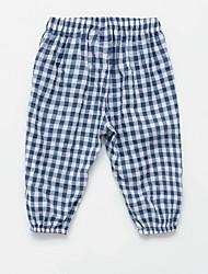 abordables -Bebé Chica Básico A Cuadros Estampado Algodón Pantalones