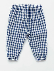 cheap -Baby Girls' Basic Plaid Print Cotton Pants / Toddler