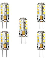 economico -BRELONG® 5 pezzi 3 W 250 lm G4 LED a pannocchia / Luci LED Bi-pin T 24 Perline LED SMD 2835 Decorativo Bianco caldo / Bianco 12 V