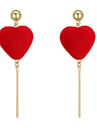 cheap -Women's Hoop Earrings - Heart Sweet, Fashion Red / Wine / Royal Blue For Daily / Ceremony