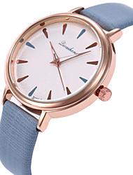 baratos -Mulheres Relógio de Pulso Quartzo Relógio Casual Adorável PU Banda Analógico Fashion Elegante Preta / Branco / Roxa - Roxo Fúcsia Azul / Aço Inoxidável