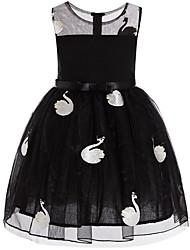 Недорогие -Дети Девочки Кран Однотонный Без рукавов Платье