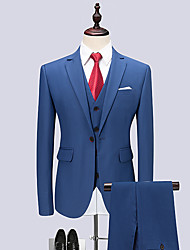 cheap -Men's Business Formal Slim Suits-Solid Colored / Long Sleeve / Work