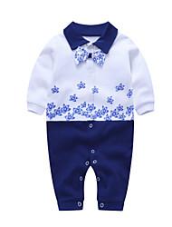 billige -Baby Drenge Trykt mønster Langærmet Overall og jumpsuit
