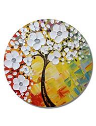 abordables -Peinture à l'huile Hang-peint Peint à la main - A fleurs / Botanique Contemporain / Moderne Toile