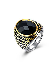cheap -Men's Sculpture / 3D Band Ring / Statement Ring - Titanium Steel Vintage, Punk 9 / 10 Black For Daily / Holiday