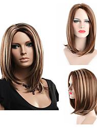 billige -Syntetiske parykker Lige Blond Side del Syntetisk hår Justerbar / Varme resistent / Klassisk Blond / Nuance Paryk Dame Mellemlængde Lågløs / Ja