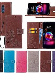 economico -Custodia Per LG LG Q7 / Q6 A portafoglio / Porta-carte di credito / Con supporto Integrale Fiori Mandala / Farfalla Resistente pelle sintetica per LG V30+ / LG V20 / LG K10 2018