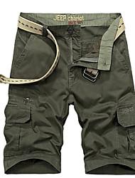 cheap -Men's Basic Wide Leg Pants - Solid Colored