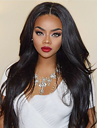 cheap -Synthetic Wig / Synthetic Lace Front Wig Wavy Layered Haircut Synthetic Hair With Baby Hair / Soft / Heat Resistant Black Wig Women's Long Lace Front / Yes / Natural Hairline / For Black Women