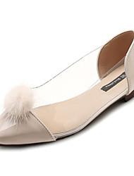 Недорогие -Жен. Обувь Искусственный мех / Полиуретан Осень Удобная обувь На плокой подошве На плоской подошве Заостренный носок Черный / Бежевый