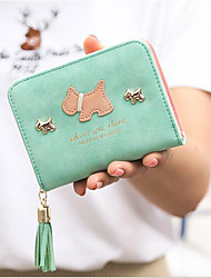 abordables -Femme Sacs PU Porte-Monnaie Gland Vert Claire / Fuchsia / Bleu royal