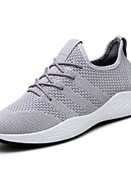 Недорогие -Муж. Сетка Осень Удобная обувь Спортивная обувь Для прогулок Серый / Красный / Черно-белый