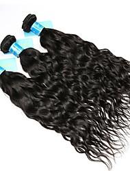 baratos -Cabelo Brasileiro / Cabelo da Birmânia Onda de Água Cabelo Virgem Cabelo Humano Ondulado 3 pacotes 8-30 polegada Tramas de cabelo humano Fabrico à Máquina Melhor qualidade / 100% Virgem Preto Natural