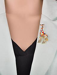 baratos -Mulheres 3D Broches - Animal Desenho, Europeu Broche Arco-Íris / Rosa Claro Para Festa de Noite / Escritório e Carreira