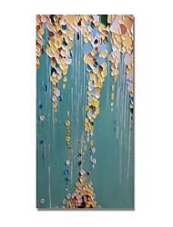 Недорогие -styledecor® современная ручная роспись абстрактного ножа нарисована желтым и коричневым цветовым блоком на холсте масляной живописи, готовой повесить искусство