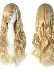 cheap -Cosplay Suits / Synthetic Wig Wavy Side Part 150% Density Synthetic Hair Party / Women / Sexy Lady Blonde Wig Women's Very Long Capless / African American Wig