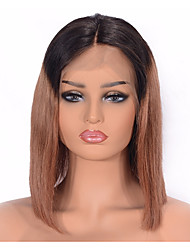 cheap -Human Hair Lace Front Wig Wig Indian Hair Straight Bob Haircut Density Women / Sexy Lady / Adorable Natural Women's 8-14 Wig Accessories