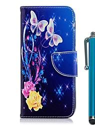 Недорогие -Кейс для Назначение Nokia Nokia 5.1 / Nokia 3.1 Кошелек / Бумажник для карт / со стендом Чехол Бабочка / Цветы Твердый Кожа PU для Nokia 8 / Nokia 6 2018 / Nokia 5.1