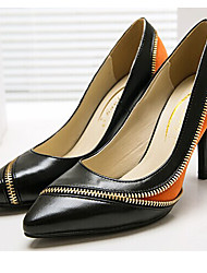 baratos -Mulheres Sapatos Camurça / Pele Napa Primavera Verão Plataforma Básica Saltos Salto Agulha Dedo Apontado Laranja / Festas & Noite