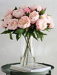baratos -Flores artificiais 1 Ramo Clássico Vintage / Europeu Peônias Flor de Mesa