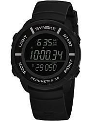 Недорогие -SYNOKE Муж. Спортивные часы электронные часы Цифровой 50 m Защита от влаги Календарь Секундомер PU Группа Цифровой Мода Черный / Серый / Темно-синий - Темно-синий Серый Зеленый / Хронометр