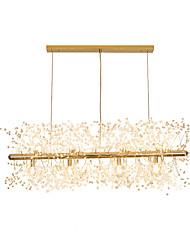 Недорогие -led chandeliers фейерверк из нержавеющей стали хрустальный остров подвесное освещение с 12-фарами g9 лампочка базовая гальваническая отделка золотом