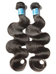 baratos -2 pacotes Cabelo Brasileiro Onda de Corpo Cabelo Virgem Cabelo Humano Ondulado 8-28 polegada Tramas de cabelo humano Fabrico à Máquina Melhor qualidade / 100% Virgem Natural Extensões de cabelo humano