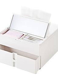 abordables -ABS + PC Rectangle Créatif Accueil Organisation, 1pc Rangement de Maquillage