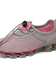 Недорогие -Жен. Обувь Сетка Лето Удобная обувь Спортивная обувь Для плавания / Дышащая спортивная обувь На плоской подошве Розовый / Тёмно-синий