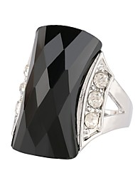 cheap -Women's Hollow Statement Ring / Ring - Stainless Precious, Hope Stylish, Aristocrat Lolita, Trendy 7 / 8 / 9 Black / Green For Ceremony / Birthday