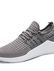 cheap -Men's Knit / Elastic Fabric Fall Comfort Athletic Shoes Running Shoes Black / Gray / Red