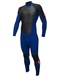 abordables -SBART Hombre Traje de neopreno completo 3mm CR Neopreno Trajes de buceo / Protección para Erupciones Secado rápido Manga Larga Cremallera Posterior Un Color Invierno