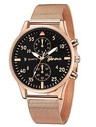Недорогие -Geneva Жен. Наручные часы Кварцевый Новый дизайн Повседневные часы Cool сплав Группа Аналоговый На каждый день Мода Черный / Розовое золото -  / Один год / Один год