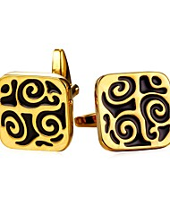cheap -Cubic Silver / Golden Cufflinks Copper Formal / Vintage Men's Costume Jewelry For Gift / Daily