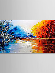 cheap -Oil Painting Hand Painted - Abstract / Still Life Modern Canvas