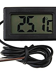 billiga -mini digital kyltermometer svart LCD-display kylskåp sond