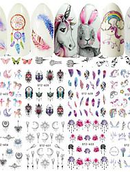 baratos -40 pcs Adesivos arte de unha Manicure e pedicure Criativo Decalques de unha Roupa Diária / Festival