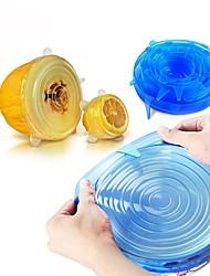 Недорогие -6шт универсальный силиконовый обертывание крышкой чаша силиконовая крышка кухонная вакуумная крышка
