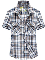 cheap -Men's Shirt - Plaid Print