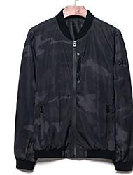 cheap -Men's Basic Jacket - Color Block, Print