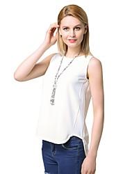 Недорогие -Жен. С Х-образными бретелями Блуза Деловые / Уличный стиль Однотонный