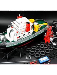 Недорогие -Лодка на радиоуправлении WLtoys 3810 Металл / ABS каналы 15 km/h КМ / Ч