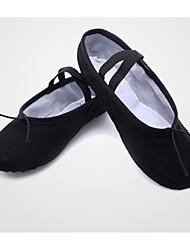 Недорогие -Жен. Обувь для балета Полотно Кроссовки На плоской подошве Танцевальная обувь Черный / Розовый / Верблюжий