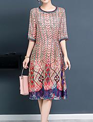 cheap -women's sophisticated a line dress knee-length