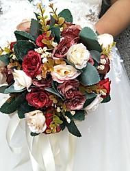 """Недорогие -Свадебные цветы Букеты Свадьба / Особые случаи Полиэстер 7,87""""(около 20см)"""