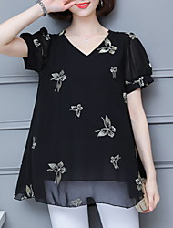 cheap -Women's Going out Blouse - Animal / Summer